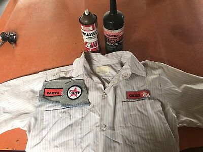 Caltex Oil Bottle Lube Spray , Shirt, Emblem