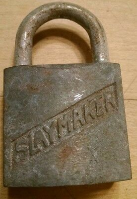 Vintage Antique Slaymaker Lancaster PA Padlock Lock No Key