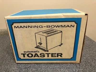 NOS Factory Sealed Mid Century Vintage Manning-Bowman Toaster Stainless WOW!