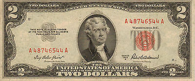 1953-A US Notes, Red Seal, Medium to High Grade Note (Z-19)