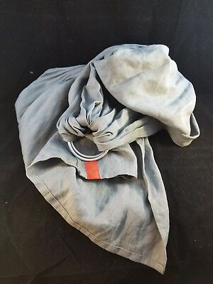Sakura Bloom Classic Ring Sling - Linen - Ash Gray - Single Layer - EUC Retired