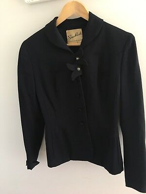 Vintage 1940s Navy Ladies Blazer / Jacket Beau Mode