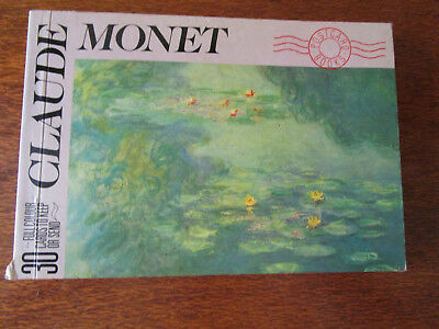 Claude Monet  30 Full Colour Postcards  Book To Send Or Keep. Published 1989