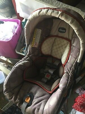 Chicco KeyFit/30 Infant Car Seat Replacement Cover Canopy Brown Orange EUC : replacement car seat canopy - memphite.com