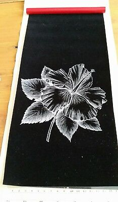 Hobbytex Velvet Preshaded Floral Print to Paint with instructions, unused