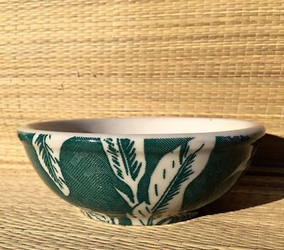 Vintage TEPCO Green Palm OATMEAL, CEREAL or SOUP BOWL