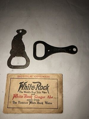 White Rock Ginger Ale Old Bottle Openers And Paper Holder