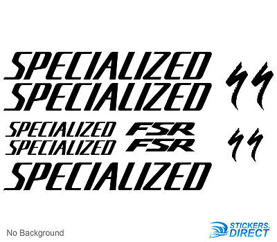 Specialized FSR Decals Set of 11 Cycling Bike Vinyl Stickers Vinyl Any Colour