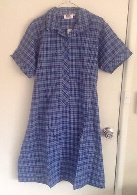 BNWT Size 22 Girls Blue Check School Dress Uniform