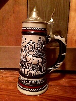 Vintage Avon lidded Beer Stein 1976 Handcrafted in Brazil, Man Cave GIFT!