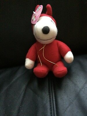 Snoopy Plush Whitman's Toy, Valentines Day Red Devil Costume