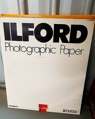 Ilford Photographic Paper 50.8cmX61.0cm PEARL Medium Weight 10 Sheets