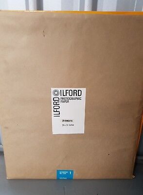 """Ilford Photographic Paper """"Velvet Stipple"""" 25 sheets 20x24 inches"""