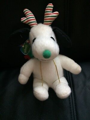 Whitman's Snoopy Promo Plush Toy Xmas Reindeer With Tags Peanuts Collectible