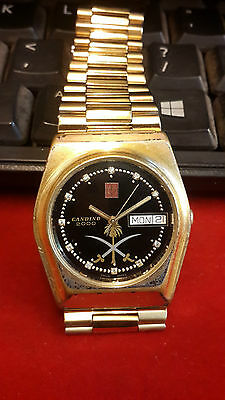 Candino 2000 Swiss Made Day & Date Automatic Rare Vintage Watch