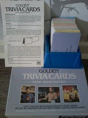 """Star Trek classic trivia card set by """"Golden"""" with display box"""