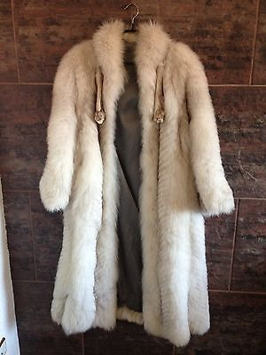 Pelzmantel L Pelz Real Fur Coat Mantel Echt Weiß Winter Luxus White Russian rare
