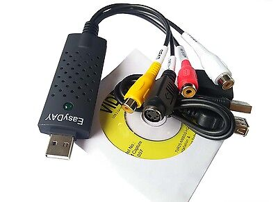 Easycap USB 2.0 TV Video Audio VHS to DVD HDD PC Converter Capture Card Adapter