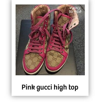 Ladies Gucci pink authentic trainers