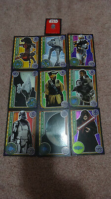 Carrefour Spain Star Wars Collector Trading Cards x9 Darth Sidious