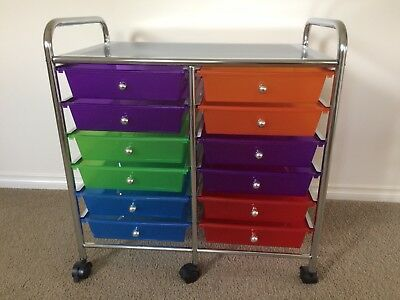 Plastic Stainless Steel Filing Office Hobby 12 Drawers Storage