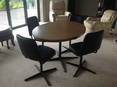 Table and 4 Chairs - Retro Style