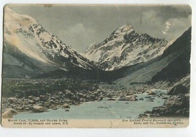8 New Zealand Postcards Mt Cook Dunedin Christchurch Auckland 1906 Exhibition