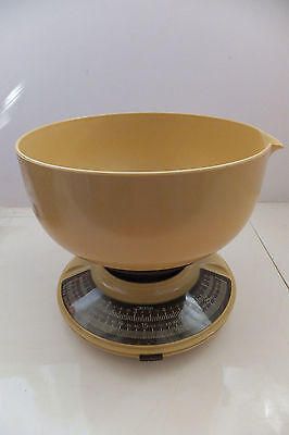 Vintage Eks Scale Made In Sweden Retro Mid Century Bowl Yellow Atomic Mixing 70S