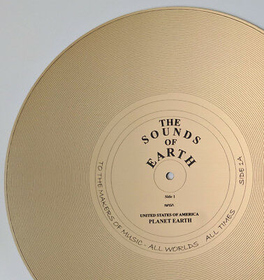 """The Sounds of Earth - Full size replica of NASA Voyager Golden Record """"Side 1A"""""""