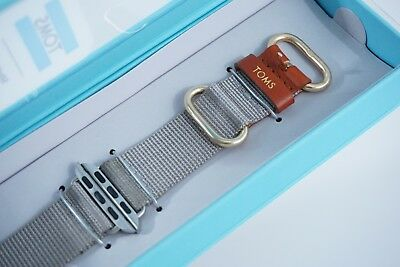 TOMS Watch Band For Apple Watch 38mm Gray Brand New Free Shipping