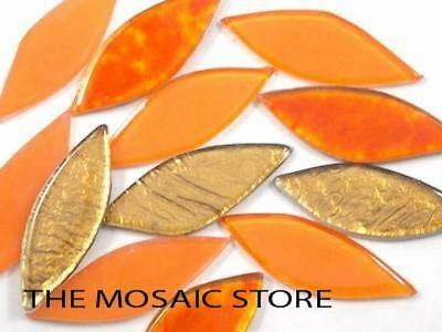 Orange Mix Glass Petals - Mosaic Tiles Supplies Art Craft