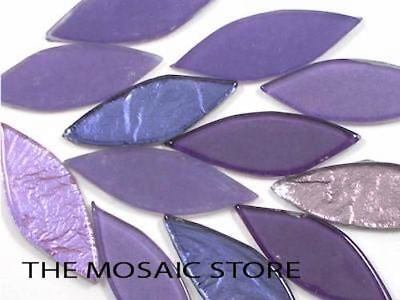 Purple Mix Glass Petals - Mosaic Tiles Supplies Art Craft