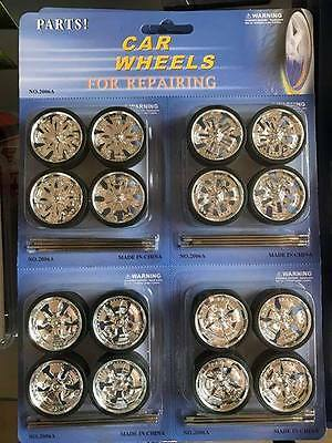 Diecast Car Wheels for Repairing 1:18 Scale Spinner Rims & Wheels Model Car
