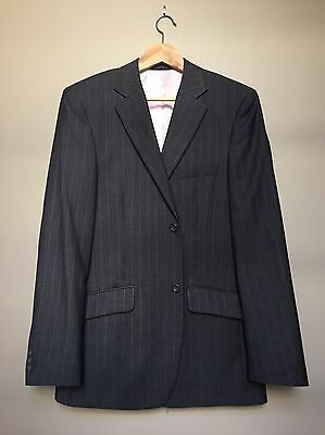 Industrie Jacket, Grey With Pink Pinstripes- Size 40- As New