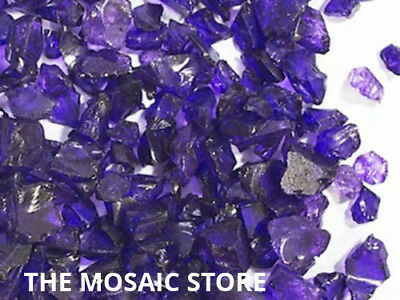 Purple Tumbled Glass Pieces - Mosaic Tie Art & Craft Supplies