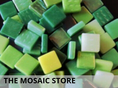 Green Mixed 12mm Glass Tiles | Mosaic Tiles Supplies Art Craft