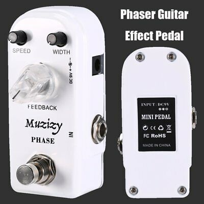 Mini Vintage Phase Phaser Guitar Effect Pedal True Bypass Surge Rotater Reverb