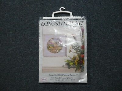 Myart Longstitch Kit ~ Summer Residence ~ Design Size 28.5 Cm Round ~ New