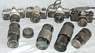 #d14 Joblot Of Olympus Cameras And Lenses