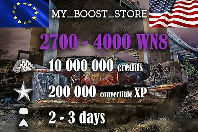 World Of Tanks (WOT) 10MILL. 200.000XP UNICUM PLAY | 2-3 days| NOT BONUS CODE