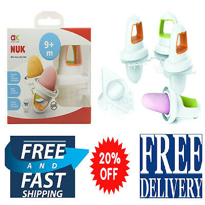 Annabel Karmel NUK Mini Baby Ice Lolly Moulds Sooth Sore Gums Fresh Purees Milk