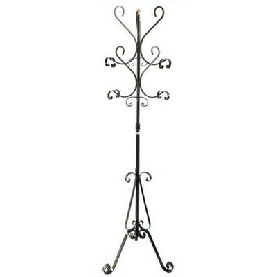 Coat hangers hanger wrought iron stand in 6 places rustic MOd.