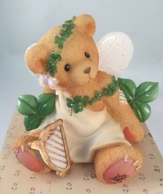 Cherished Teddies retired NIB. Erin Irish eyes Smile. Fairy Harp Clover. 203068