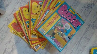 Lot of Buster comics, whole year 1993. including 10 with free gifts attached