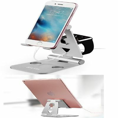 Foldable Cell Phone Stand Charging Pad Dock For Android Apple Smartphone iWatch