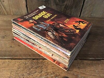 Cleveland Pulp Western Cowboy Pb  X 10 1970's Joblot 1 Collection