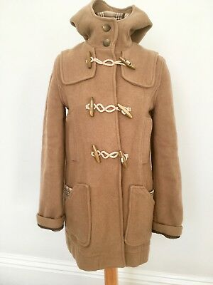 Cool Vintage Topshop Classic Camel Hooded Duffle Coat Wooden Toggles