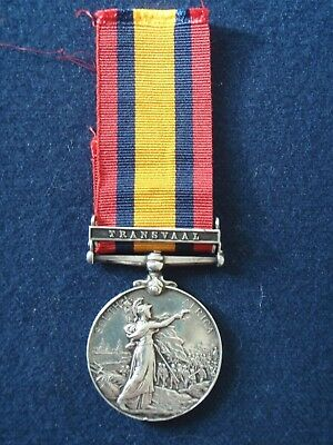 Queens South Africa Medal Clasp Transvaal 4th Bn Railway Pioneer Regiment