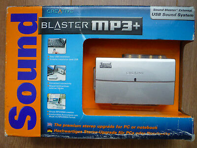 Creative Sound Blaster Mp3+ External Usb Sound System Stereo Upgrade Used Once..