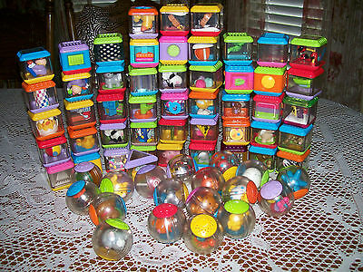 Fisher Price Large LOT 75 Peek a Blocks and Roll Arounds Preschool Daycare
